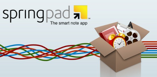 Free Android Productivity Apps of 2012-springpad