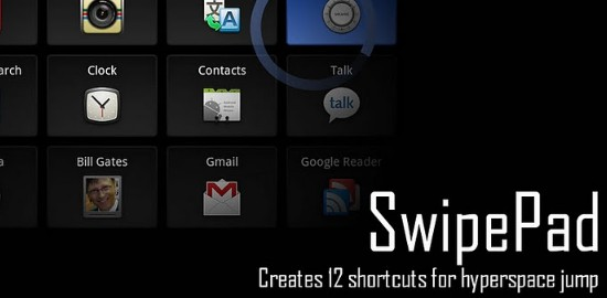 Free Android Productivity Apps of 2012-swipepad