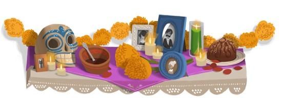 Google Doodles of 2011-thomas dayofdead