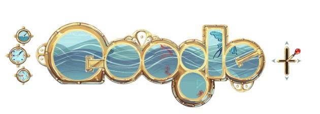Google Doodles of 2011-thomas julesvernes
