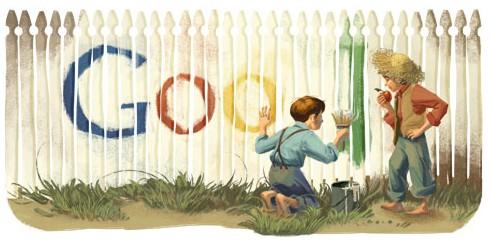 Google Doodles of 2011-thomas marktwain