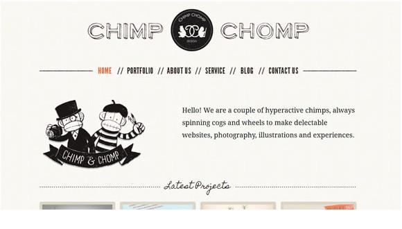 Light & Clean Websites-chimpchomp