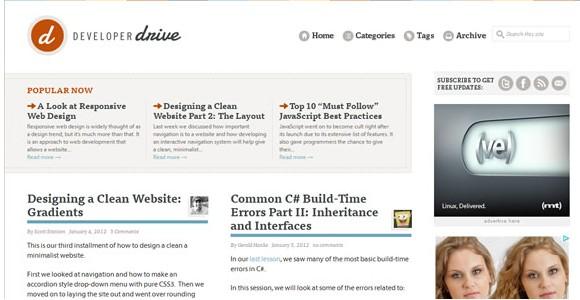 Light & Clean Websites-developerdrive