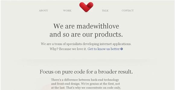 Light & Clean Websites-madewithlove