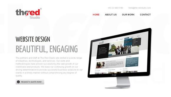 Light & Clean Websites-theredstudio