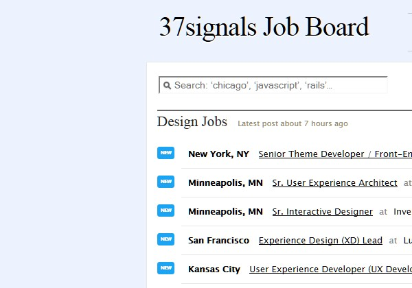 Sites Where Freelancers Can Find Work-37signalsjob