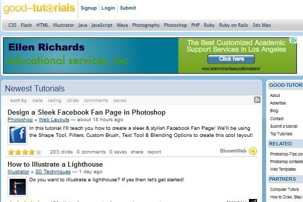 Sites to Submit Your Tutorials-goodtutorials