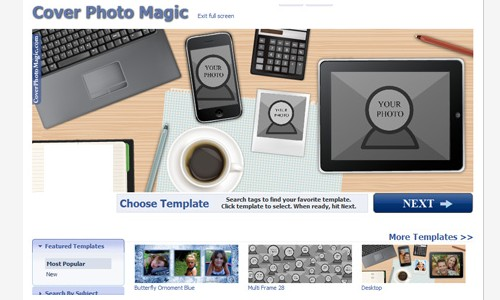 Tools to Create Free Facebook Timeline Cover-coverphotomagic