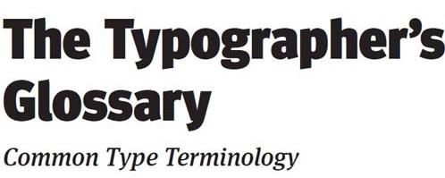Typography eBooks-typographersglossary