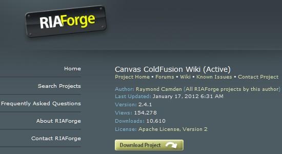 Wiki CMS-convascoldfusion