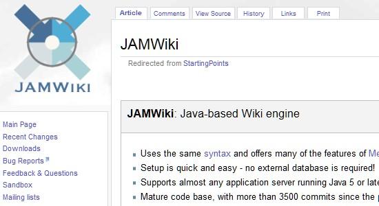 Wiki CMS-jamwiki