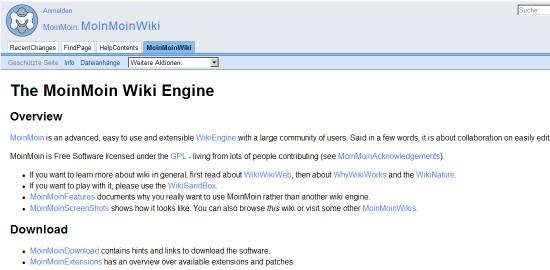 Wiki CMS-moinmoin