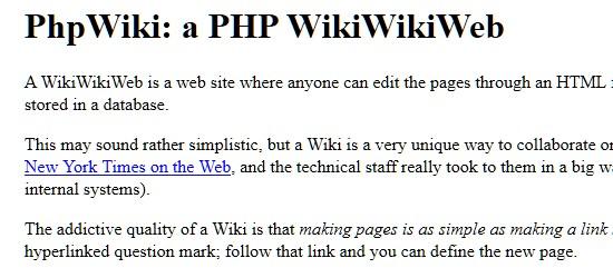 Wiki CMS-phpwikiwikiweb