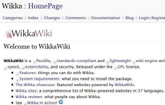Wiki CMS-wikkawiki