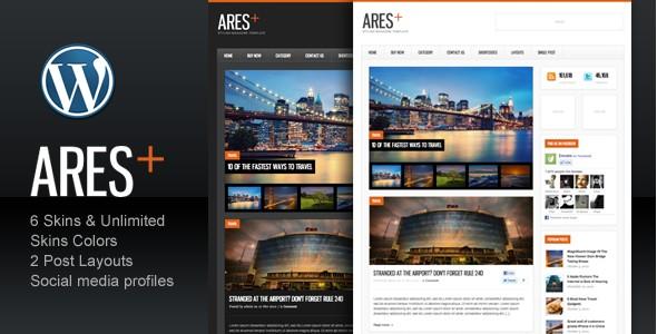 WordPress Magazine Themes-Aresblogmagazine