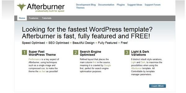 WordPress Magazine Themes-afterburner