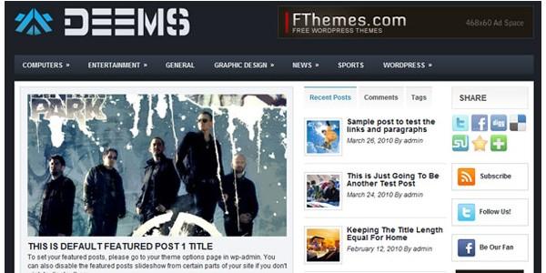WordPress Magazine Themes-deems