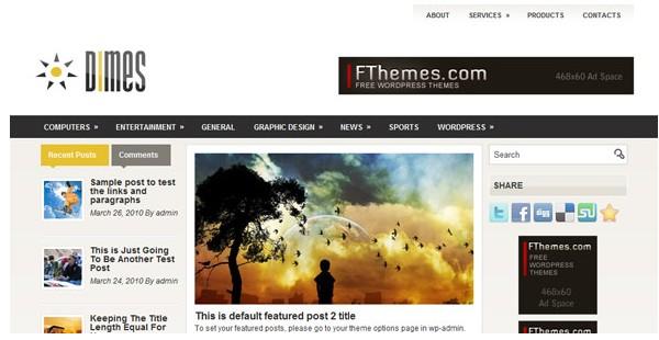WordPress Magazine Themes-dimes