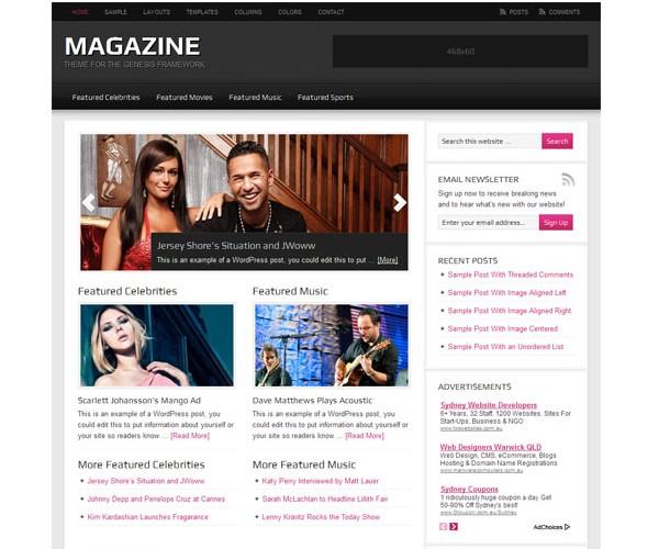 WordPress Magazine Themes-magazine2.0