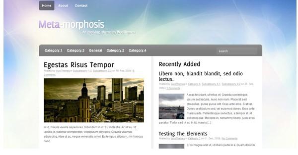 WordPress Magazine Themes-metamorphosis