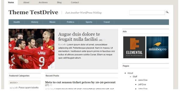 WordPress Magazine Themes-mimbo