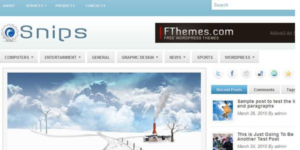 WordPress Magazine Themes-snips