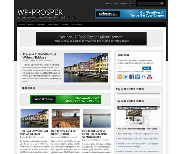 WordPress Magazine Themes-wpprosper