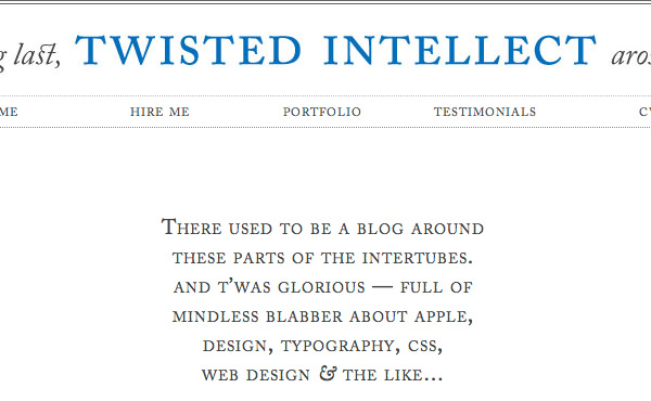 twissted intellect