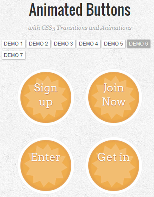 Animated-Buttons---CSS3-ani