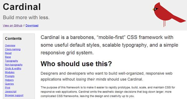 cardinal responsive css framework