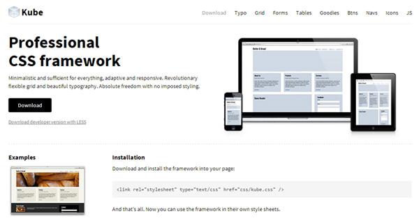 kube responsive css framework