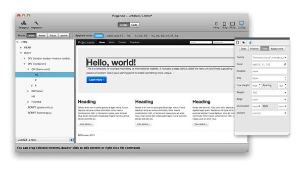 pingendo-web-authoring-app