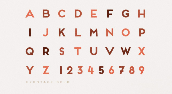 Frontage Typeface