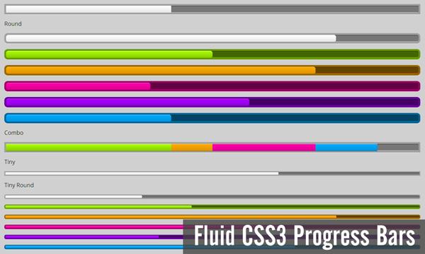 fluid-css3-progress-bars